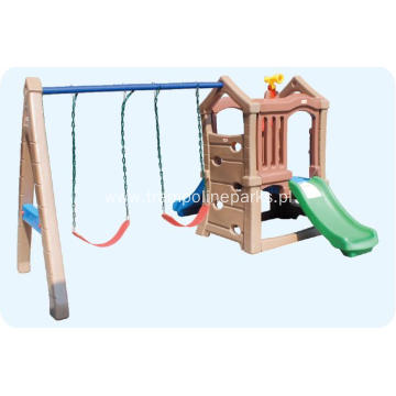 Simple Play Set Combined Slide and Swings